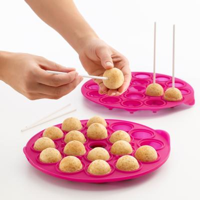 Molde Pop cakes 18 cav. magenta