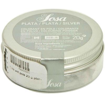 Colorante polvo HomeChef 20 g plata