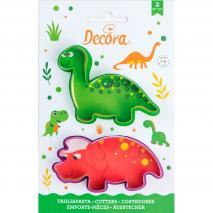 Set 2 cortadores galletas plástico Dinosaurios