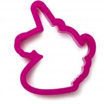 Cortador galletas plástico Cabeza Unicornio