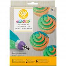 Set 9 piezas decoración Tri-color