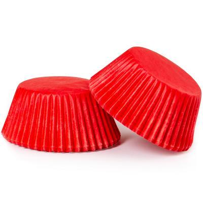 Papel cupcakes x75 Rojo