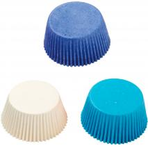 Papel cupcakes x75 Azules y blancos