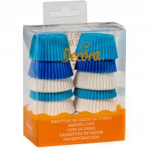 Papel mini cupcakes x200 Azules y blancos