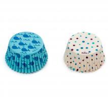 Paper cupcakes x36 Balenes i polka