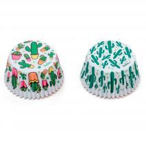 Papel cupcakes Cactus mix  x36