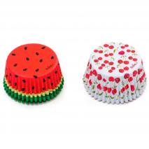 Paper cupcakes x36 Summer Fruits