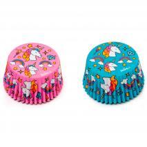 Papel cupcakes x36 Unicornio
