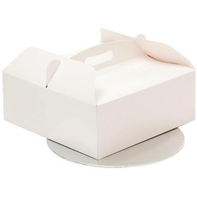 Caja para pasteles con asa y base 28,5x28,5x10 cm