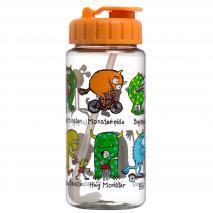 Botella agua con pajita Monstruos