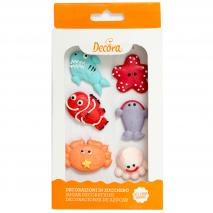 Set 6 decoracions de sucre Animals marins
