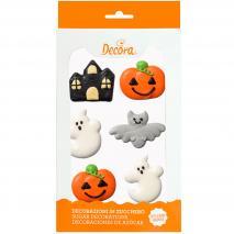 Set 6 decoracions de sucre Halloween