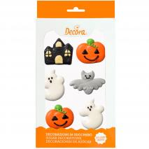 Set 6 decoracions de sucre Halloween