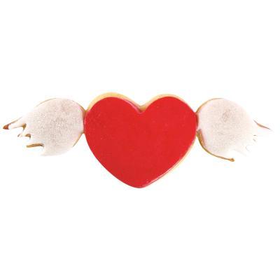 Cortador galletas corazón con alas