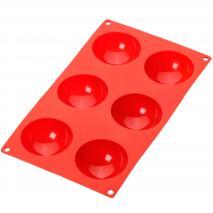 Motllo semiesfera 6 cav x90 ml vermell