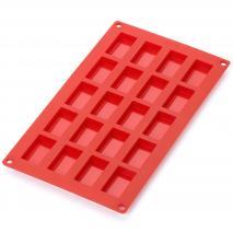 Motllo mini financer 20 cav x20 ml vermell