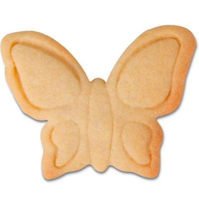 Cortador galletas mariposa relieve 8 cm
