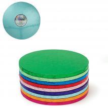 Base para pasteles redonda azul