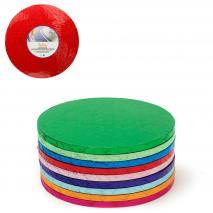 Base para pasteles redonda rojo