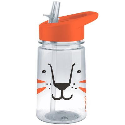 Botella agua Zoo Lion con pajita