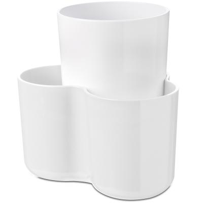 Organizador utensilios doble blanco