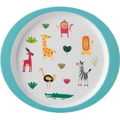 Plato infantil melamina 22 cm animal friends