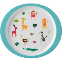 Plato infantil melamina 22 cm animal friends