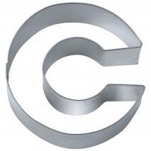 """Cortador galletas letra """"C"""" 6,5 cm"""