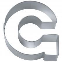 """Cortador galletas letra """"G"""" 6,5 cm"""