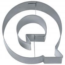 """Cortador galletas letra """"Q"""" 6,5 cm"""