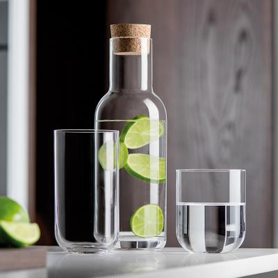 Botella cristal con tapón corcho Sublime 1 L
