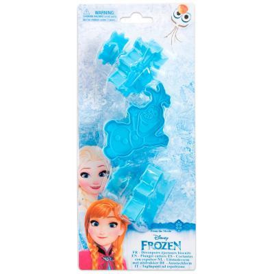 Juego 3 cortadores con expulsor Frozen