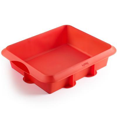 Molde lasagna silicona 24x20 cm rojo