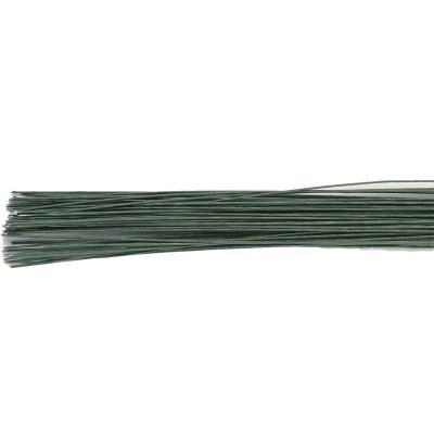 Set 20 alambres para flores calibre 22 verde oliva