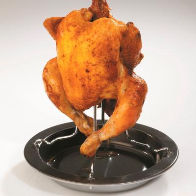 Asador para pollo horno con plato antiadherente