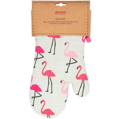 Guante de horno flamingo rosa