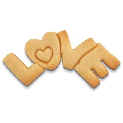 Cortador galletas palabra LOVE 7,5 cm