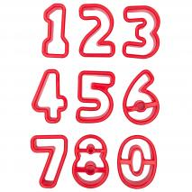 Juego 9 cortadores galletas Números 3,5-4 cm