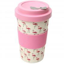 Taza mug fibra bambú Flamenco 400 ml