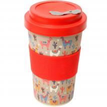 Taza mug fibra bambú Llama 400 ml