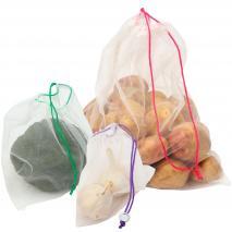 Set 5 bolsas de la compra para frutas y verduras