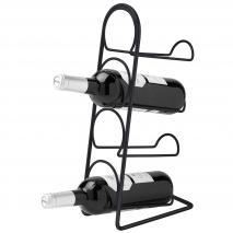 Botellero vertical para 4 botellas vino negro