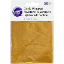 Set 50 papeles metálicos dorado envoltorio