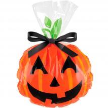 Bolsa para galletas x 12 Calabaza Jack O Lantern
