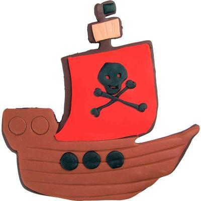 Cortador galletas barco pirata 10 cm