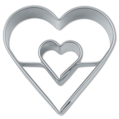 Cortador galletas corazón doble 4 cm
