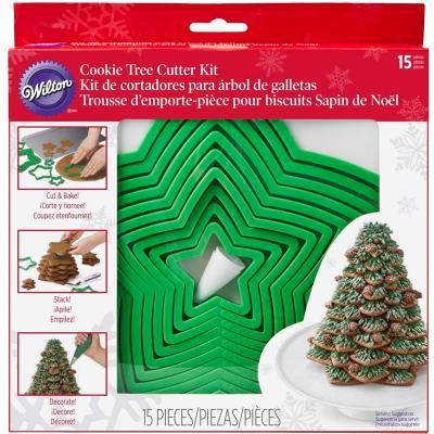Kit 15 piezas arbol de navidad con galletas