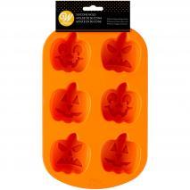 Molde calabazas Jack O Lantern silicona 6 cav.