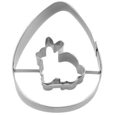 Cortador galletas Huevo con conejo 7 cm