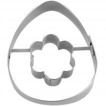 Cortador galletas Huevo con flor 7 cm
